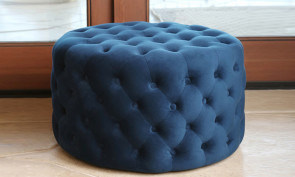 Velvet Fabric Tufted Pouf Ottoman from AED 1,299